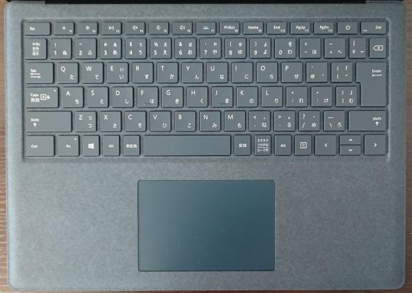 Surface Laptop 2のAlcantara(アルカンターラ)キーボード。