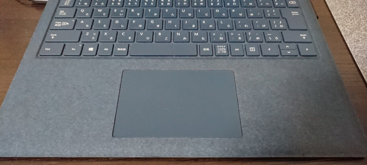 Surface Laptop 2のパームレスト